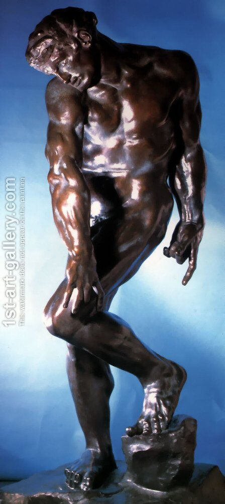 Adam by Auguste Rodin - Reproduction Oil Painting