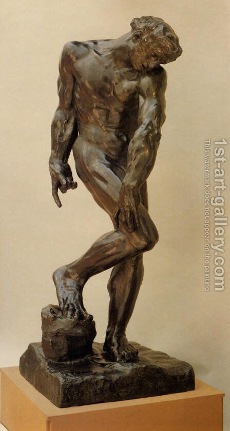 Adam [detail: 1] by Auguste Rodin - Reproduction Oil Painting