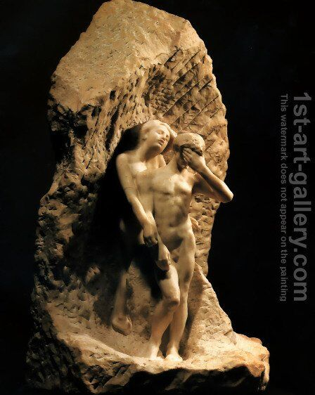 Adam and Eve expelled from Paradise by Auguste Rodin - Reproduction Oil Painting