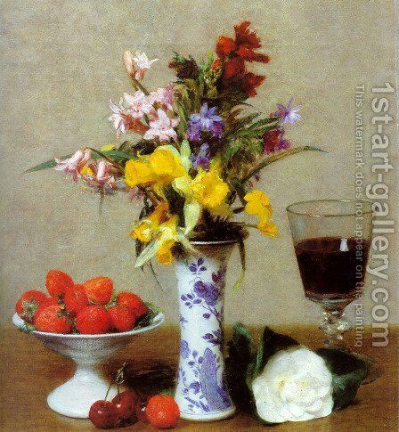 Still Life II by Ignace Henri Jean Fantin-Latour - Reproduction Oil Painting