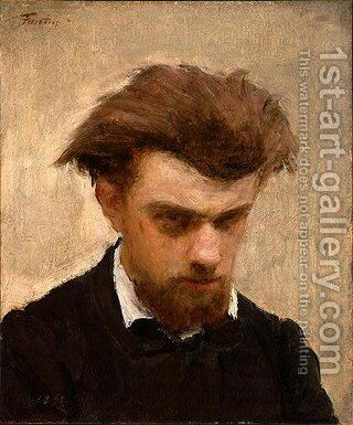 Self-Portrait 2 by Ignace Henri Jean Fantin-Latour - Reproduction Oil Painting