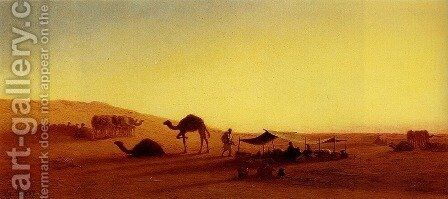 An Arab Encampment I by Charles Théodore Frère - Reproduction Oil Painting