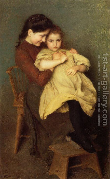 Chagrin d'Enfant by Emile Friant - Reproduction Oil Painting