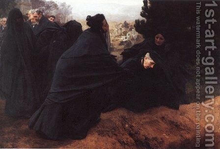 Doleur (Sorrow) by Emile Friant - Reproduction Oil Painting