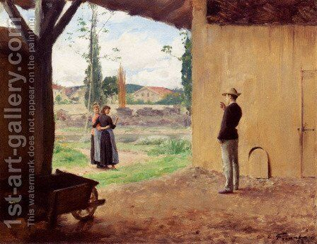 Spring by Emile Friant - Reproduction Oil Painting