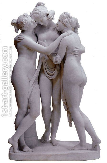 The Three Graces I by Antonio Frilli - Reproduction Oil Painting
