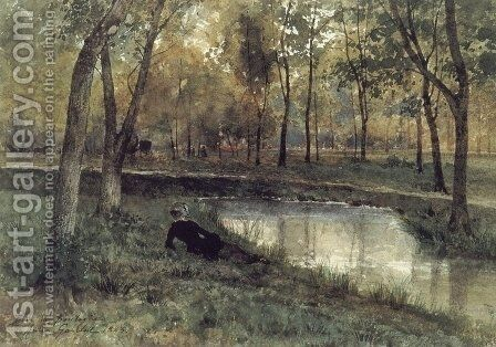 In the Bois de Boulogne, Paris by Anna Gardell-Ericson - Reproduction Oil Painting