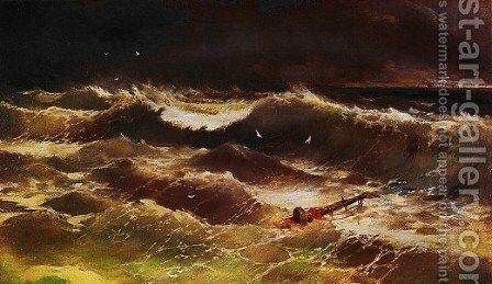 Storm 2 by Ivan Konstantinovich Aivazovsky - Reproduction Oil Painting