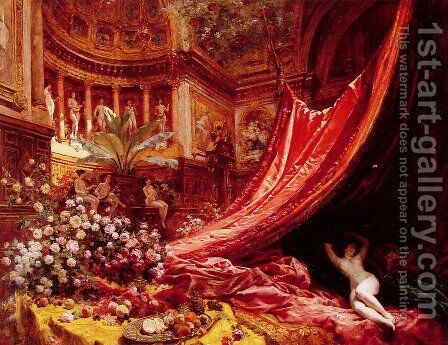 Symphony in Red and Gold by Jean-Georges Beraud - Reproduction Oil Painting