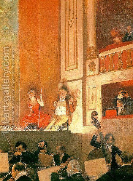 Representation at the Theatre des Varietes by Jean-Georges Beraud - Reproduction Oil Painting
