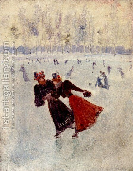 Women Skating by Jean-Georges Beraud - Reproduction Oil Painting