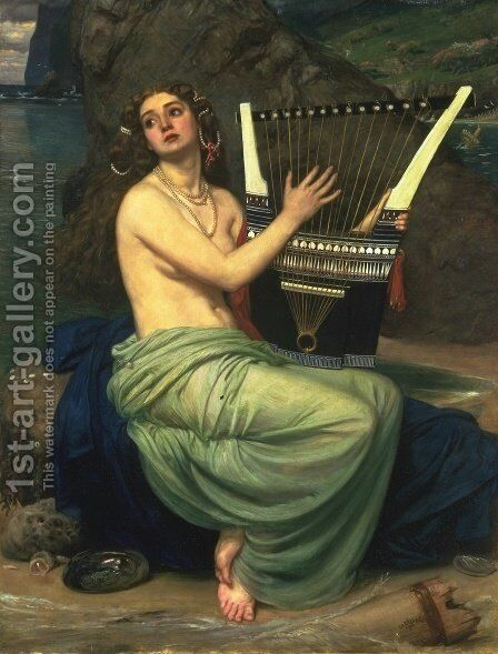 The Siren by Sir Edward John Poynter - Reproduction Oil Painting