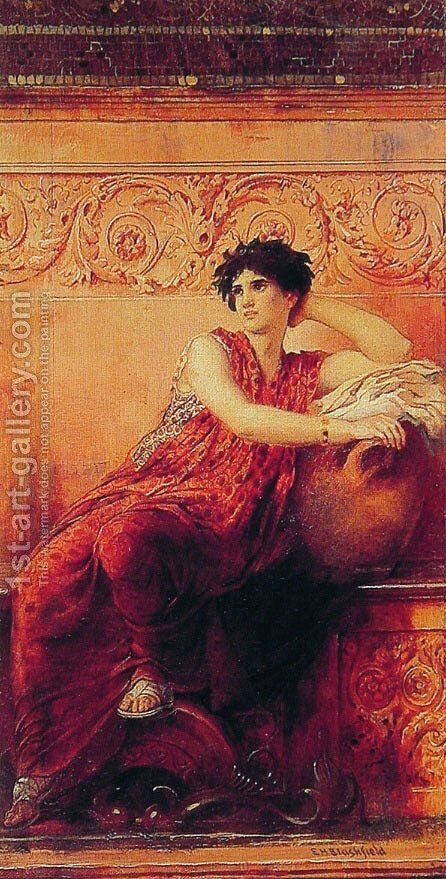 The Roman Pose by Edwin Howland Blashfield - Reproduction Oil Painting