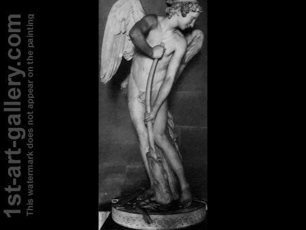 Cupid Making a Bow out of the Club of Hercules by Edme Bouchardon - Reproduction Oil Painting
