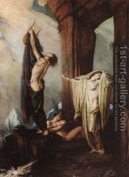 Orpheus and Eurydice I by Charles De Sousy Ricketts - Reproduction Oil Painting
