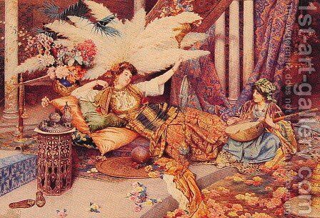 In the Harem by Guiseppe Signorini - Reproduction Oil Painting