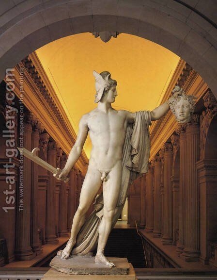 Perseus with the Head of Medusa by Antonio Canova - Reproduction Oil Painting
