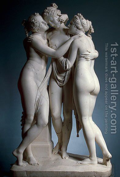 The Three Graces by Antonio Canova - Reproduction Oil Painting