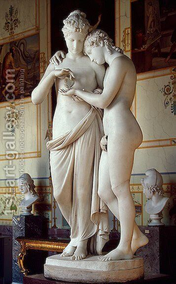 Cupid and Psyche I by Antonio Canova - Reproduction Oil Painting