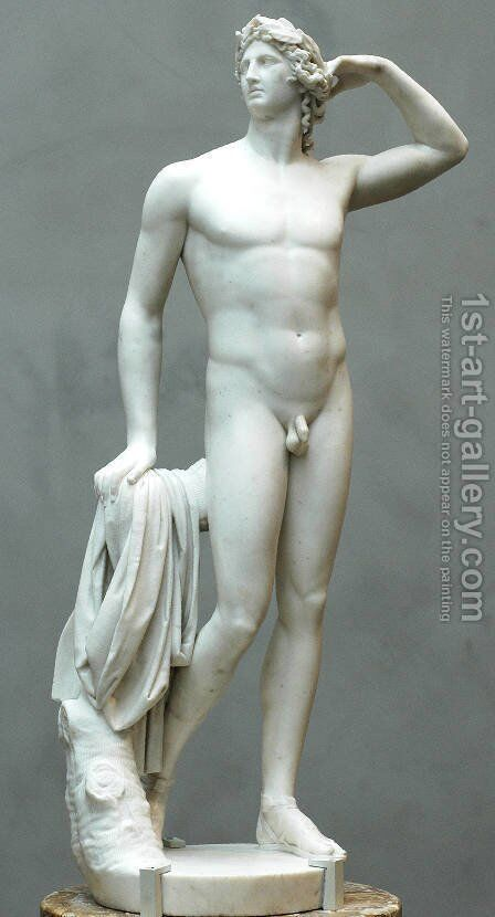 Apollo crowning himself by Antonio Canova - Reproduction Oil Painting