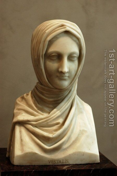 Bust of a Vestal Virgin by Antonio Canova - Reproduction Oil Painting