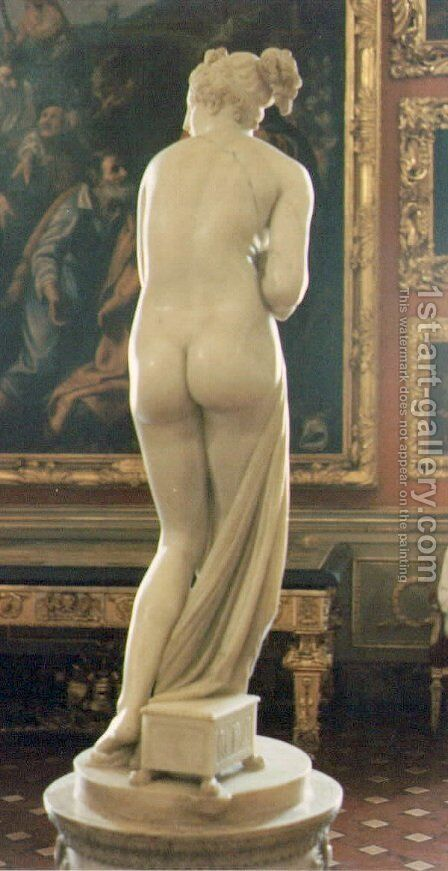 Venus Italica [detail: behind] by Antonio Canova - Reproduction Oil Painting