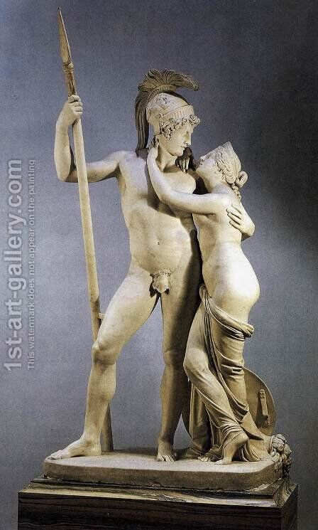 Venus and Mars by Antonio Canova - Reproduction Oil Painting
