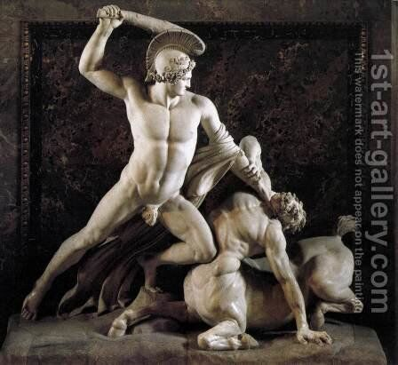 Theseus and the Centaur by Antonio Canova - Reproduction Oil Painting