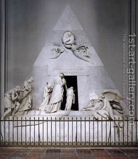 Tomb of Duchess Maria Christina of Saxony-Teschen by Antonio Canova - Reproduction Oil Painting
