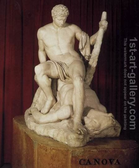 Theseus and the Minotaur by Antonio Canova - Reproduction Oil Painting