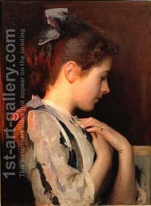 Amethyst by Edmund Charles Tarbell - Reproduction Oil Painting