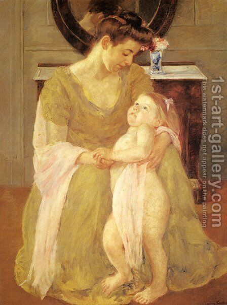 Mother And Child X by Mary Cassatt - Reproduction Oil Painting