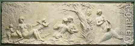 Nymphs Bathing with Leda and the Swan by Clodion - Reproduction Oil Painting