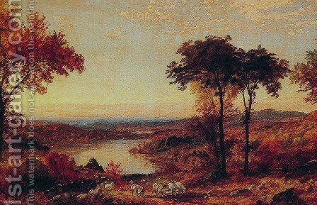 Wyoming Valley, Pennsylvania I by Jasper Francis Cropsey - Reproduction Oil Painting