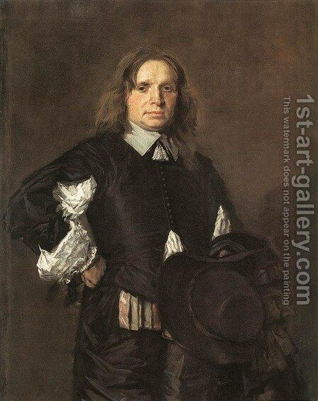 Portrait of a Man I by Frans Hals - Reproduction Oil Painting