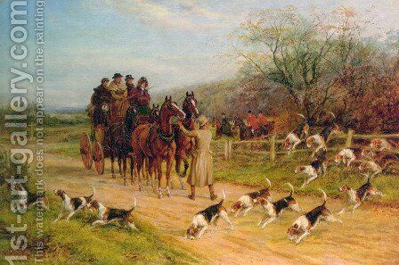 Hounds First, Gentlemen, Hounds First by Heywood Hardy - Reproduction Oil Painting
