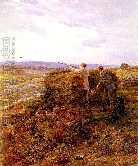 The Grouse Shoot by Heywood Hardy - Reproduction Oil Painting