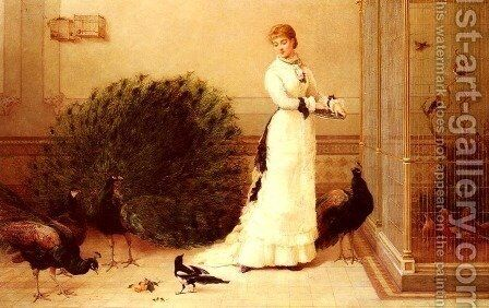The Aviary by Heywood Hardy - Reproduction Oil Painting