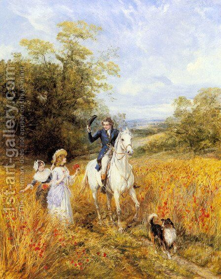 The Morning Ride by Heywood Hardy - Reproduction Oil Painting