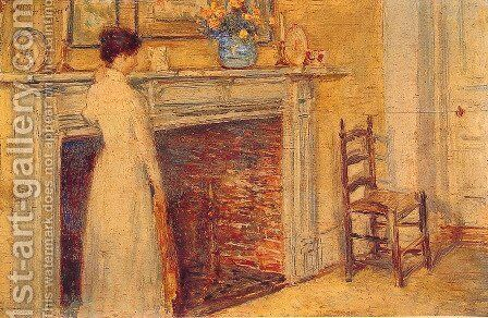The Fireplace by Childe Hassam - Reproduction Oil Painting