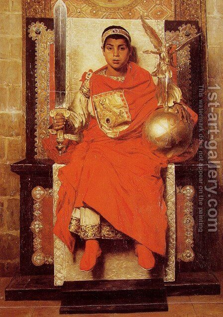 La Bas Empire Honorius (The Byzantine Emperor Honorius) by Jean-Paul Laurens - Reproduction Oil Painting