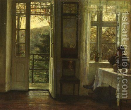 At The Window by Carl Vilhelm Holsoe - Reproduction Oil Painting