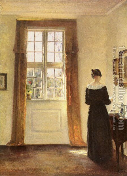 Woman In Interior by Carl Vilhelm Holsoe - Reproduction Oil Painting