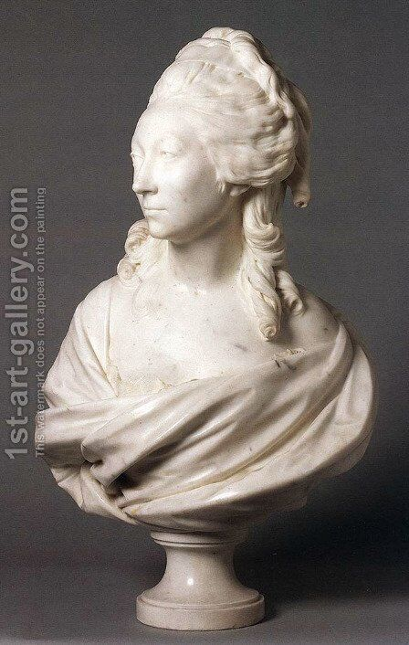 Madame de Serilly by Jean-Antoine Houdon - Reproduction Oil Painting