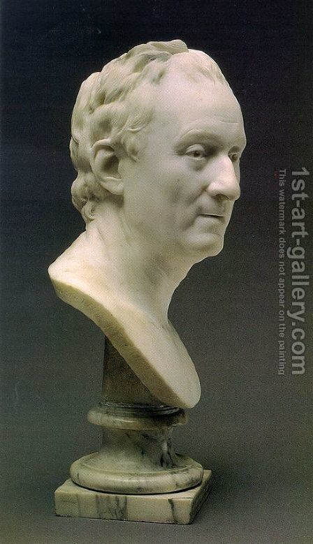 Bust of Denis Diderot by Jean-Antoine Houdon - Reproduction Oil Painting