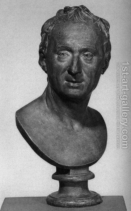 Bust of Diderot by Jean-Antoine Houdon - Reproduction Oil Painting