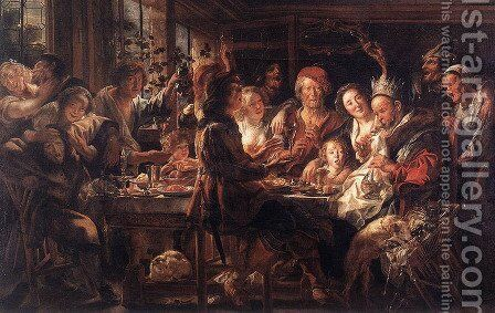 The Bean King II by Jacob Jordaens - Reproduction Oil Painting