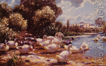 Midday Swim by Alexander Max Koester - Reproduction Oil Painting