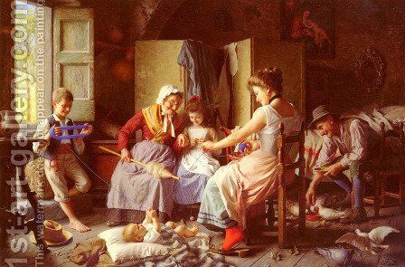 A Happy Family I by Giovanni Battista Torriglia - Reproduction Oil Painting