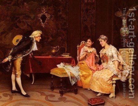Taking A Bow by Adriano Cecchi - Reproduction Oil Painting
